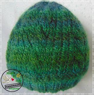 Made by Szela: Zielony melanż - czapka
