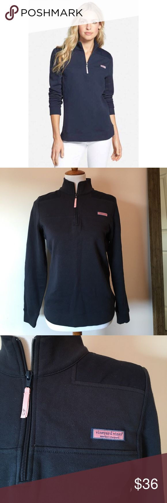 Navy blue and pink VINEYARD VINES pullover Navy blue and pink vineyard vines pullover sweatshirt. Size small. In excellent used condition. Vineyard Vines Tops Sweatshirts & Hoodies