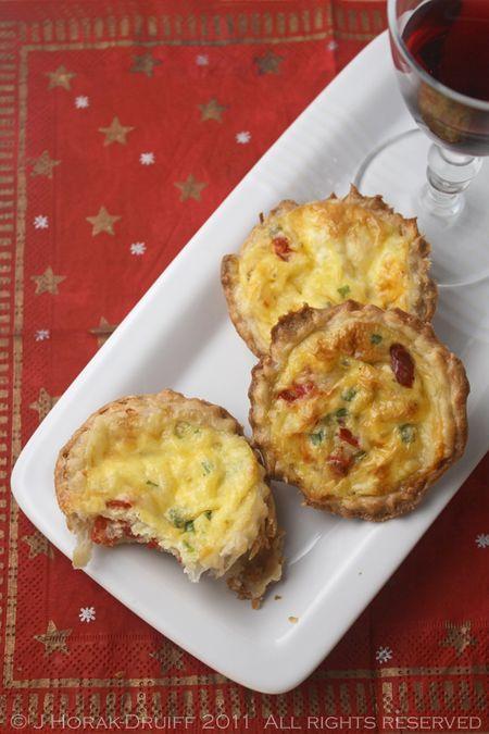 Peppadew cheese tartlets - perfect Christmas canapés
