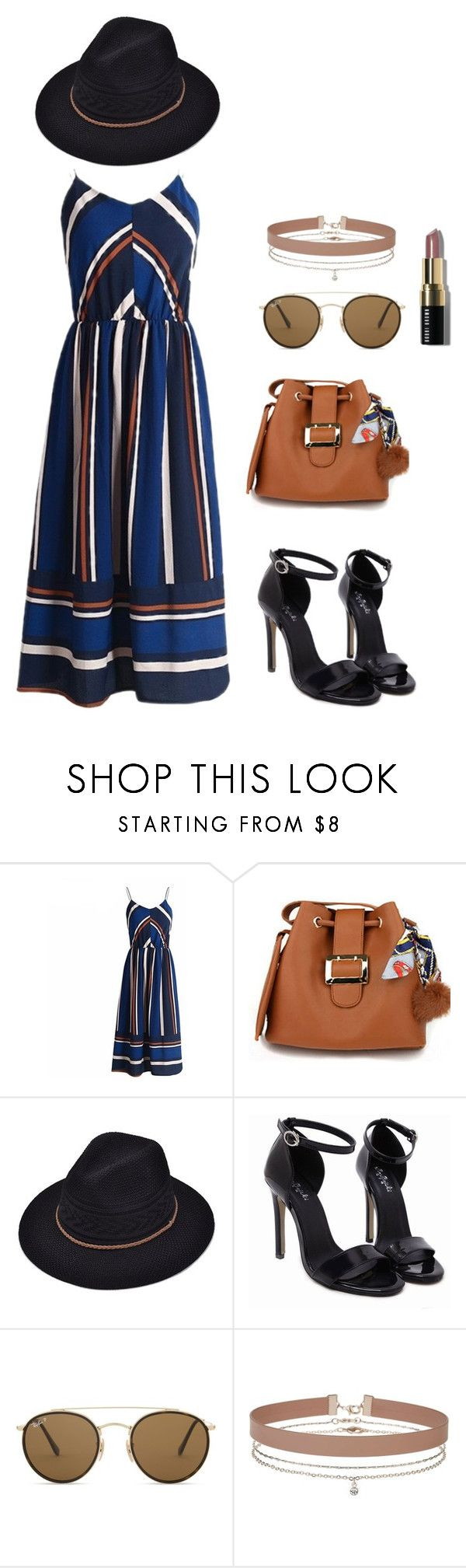 Summer dresses love #1 by impavidgirl on Polyvore featuring Miss Selfridge, Ray-Ban and Bobbi Brown Cosmetics