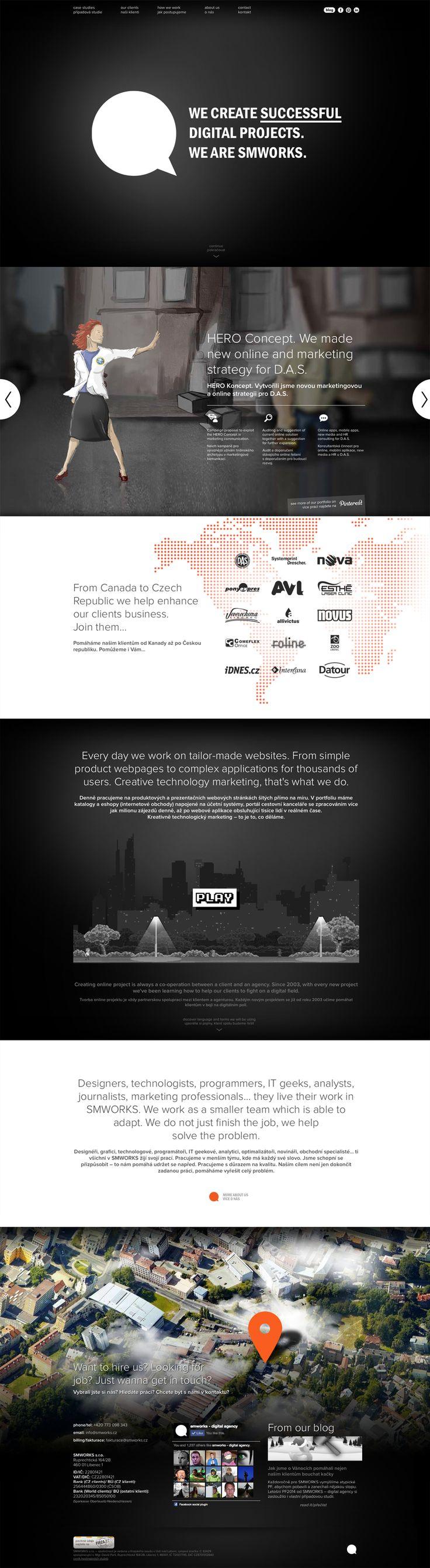 web for our agency - version 2004 #prallax clouds #case studies #game #website #digitalagency #smworks www.smworksdigital.com