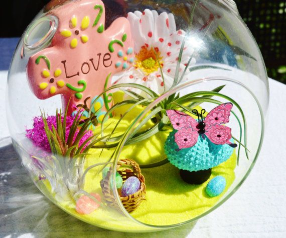 71 best gift ideas images on pinterest surfboards beach artculos similares a love springtime garden terrarium love cross easter basket and eggs mushroom and butterfly 2 airplants gift idea en etsy negle Choice Image