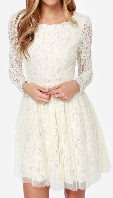 17 Best ideas about Cream Lace Dresses on Pinterest | Nike roshe ...