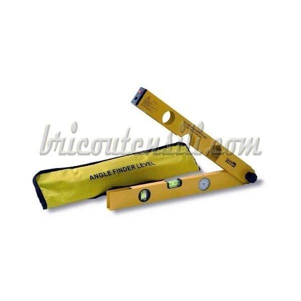 Livella da mm 480 con visore ad orologio, Puntatore laser, doppia fiala, verticale ed orizzontale.