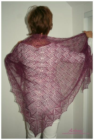 Aquila - knitted lace shawl.