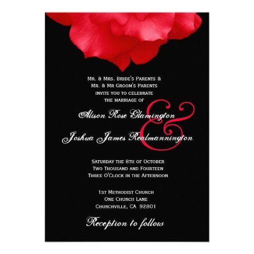 20 Best Black White And Red Wedding Invitations Images On