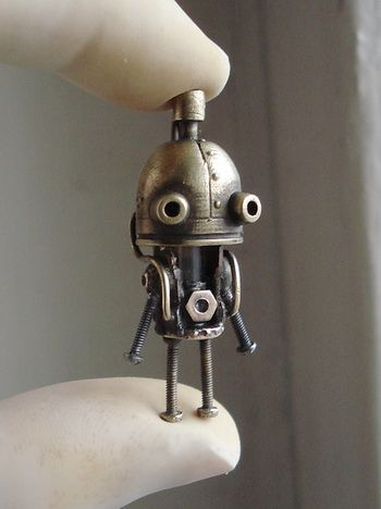 #Steampunk version of the #Machinarium-game character created by Amanita Design
