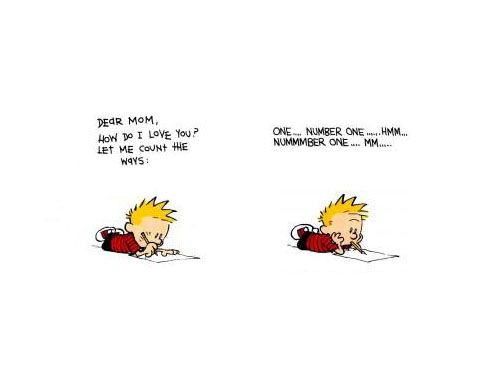 Calvin prepares for Mother's Day...