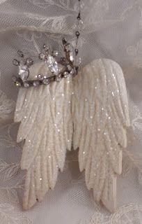 Trash to Treasure Art - wooden angel wings