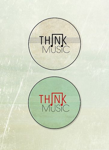 Think Music Logo Final   Flickr - Photo Sharing. Noted for red and green colour scheme