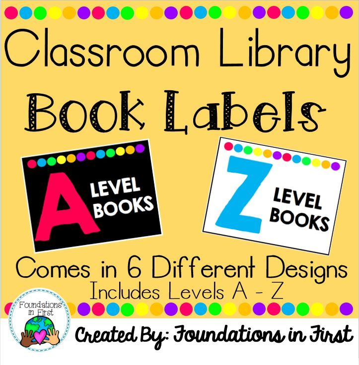 Bright Neon Leveled Library Labels for Book Bins from