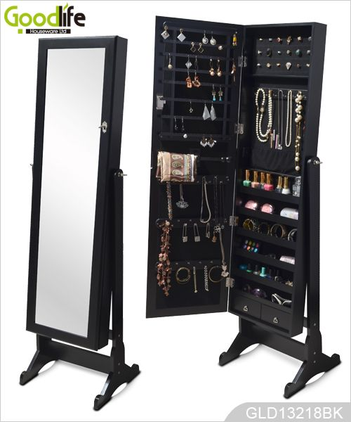 25 best ideas about jewelry cabinet on pinterest mirror for Espejo grande madera
