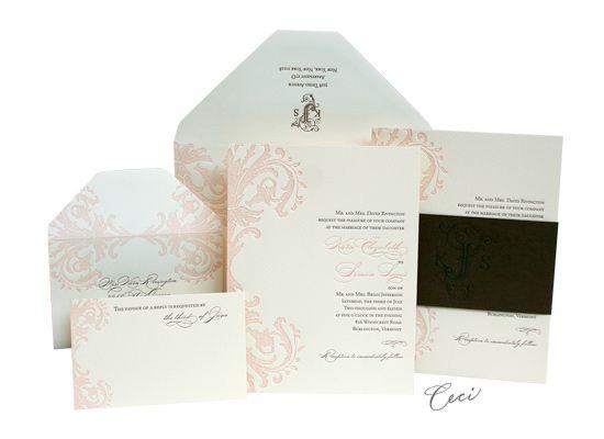 Pretty Miss   Luxury Wedding Invitations   Ceci Ready To Order Collection    Ceci