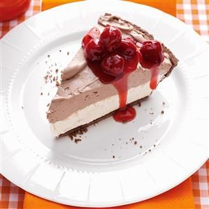 Black Forest Cheesecake Recipe -I have brought this popular cheesecake to every gathering since I created the recipe many years ago. My family asks for it all the time, and I'm happy to make it. —Christine Ooyen, Winnebago, Illinois