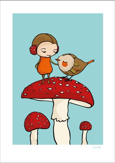 Mushroom print via Terese Bast Papershop. Click on the image to see more!