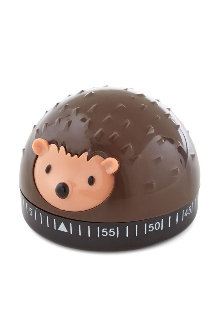 It's a Done Meal Kitchen Timer. $11.99 Stay sharp in the kitchen by using this hedgehog timer by Kikkerland to keep your mixing, blending & concocting on schedule! #brown #modcloth