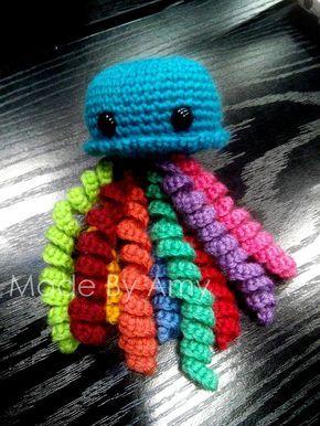 Ursula la méduse Patron amigurumi gratuit français crochet ( jellyfish free french pattern )