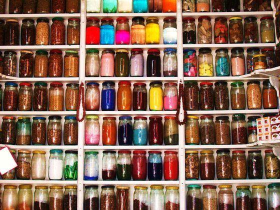 Marrakech - Vasi di spezie a Marrakech - di flaviorim