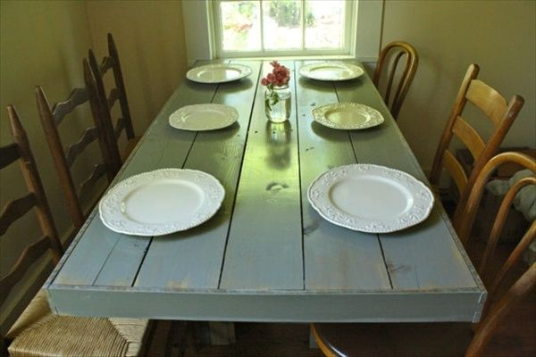 10 best ideas about pallet dining tables on pinterest for Table cuisine palette