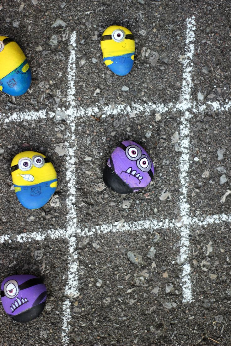 Make Minions Rocks for Tic-Tac-Toe a good basic idea, thinking about other possibilities.