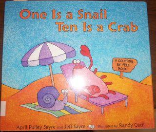 Mrs. Wood's Kindergarten Class: One is a Snail Ten Is a Crab. ocean, summer, math