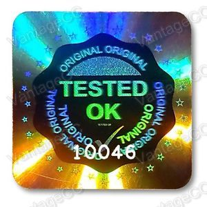 Details about  1029x LARGE TESTED OK Security Hologram Stickers, 20mm Square Labels, QC Checked