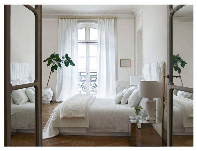 Biała przytulna sypialnia