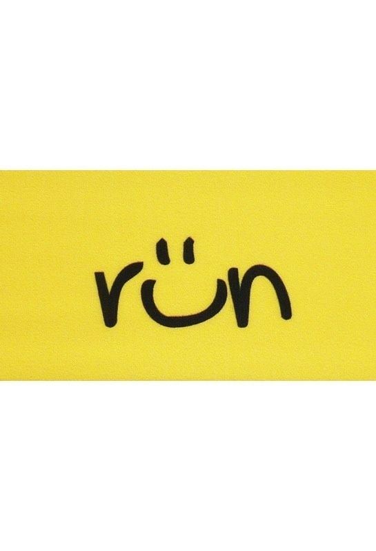 I run to smile.