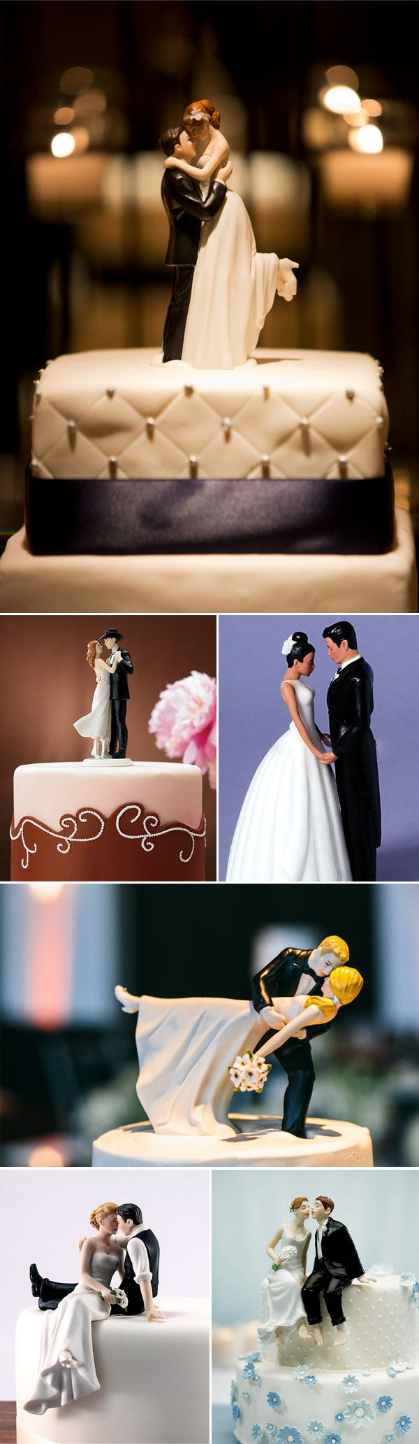 romantic bride and groom wedding cake topper ideas