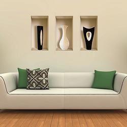 """Нишевая наклейка """"Черно-белые вазы"""" $39 #подарки для дома #madeinisrael"""