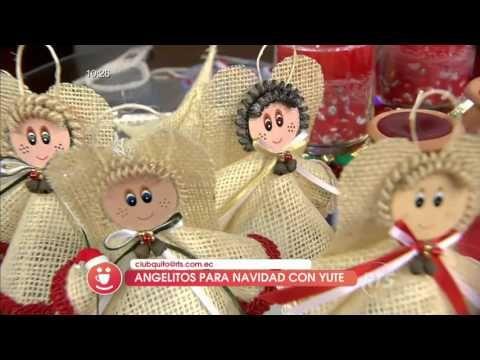 Navidad: Angelitos Con Yute Para Navidad