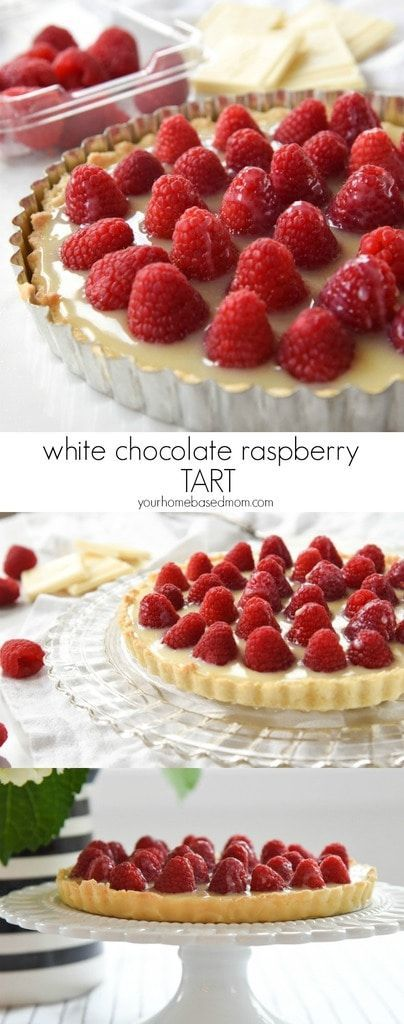 White Chocolate Raspberry Tart Recipe - White Chocolate Raspberry Tart is a perfect flavor combo. It is easy and delicious and the perfect way to show someone you care on Valentine's Day.