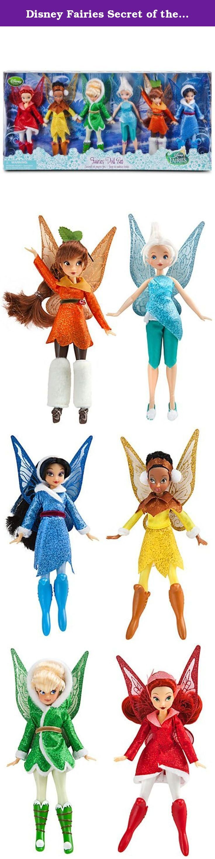Disney Fairies Secret of the Wings EXCLUSIVE Action Figure 6-Pack Fairies Doll Set [Rosetta, Iridessa, Tinker Bell, Periwinkle, Fawn & Silvermist]. Tinker Bell and her friends are dressed for winter in this 6-piece set. The stars of Secret of the Wings are wrapped in their special glittering outfits from the movie, complete with matching wings, making for lots of fairy play!.