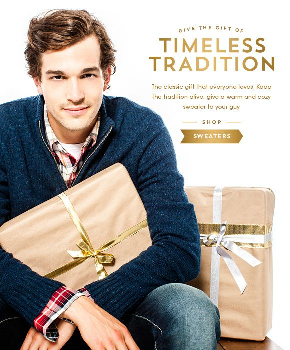 Its a timeless tradition to give the perfect sweater! Shop now at bootlegger.com