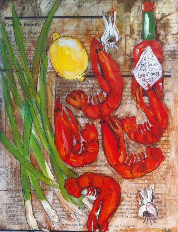 Louisiana Crawfish Kitchen Decor by evesjulia12 on Etsy ...
