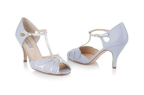 Mimosa Wedding Shoes | Mimosa Powder Blue Leather | Rachel Simpson Shoes