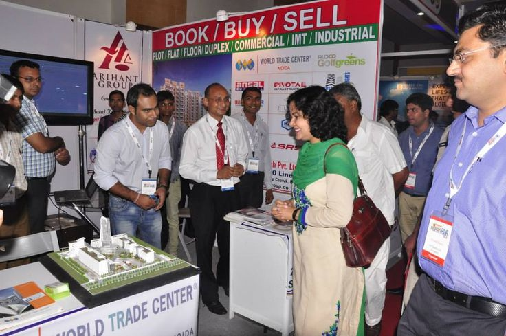 Hon,ble Miss Sharda Rathore MLA cum Secretory of Govt. of Haryana at the Stall of Shri Balaji Group in Property Expo of Hindustan Times at Magpie Faridabad.