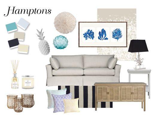 Hamptons Mood Board Nestdesigns Edecorating Emma Blomfield Portfolio Pinterest Home The