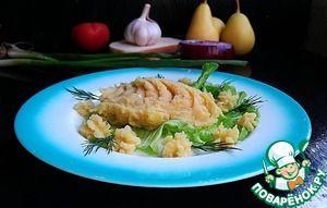 Картофельное пюре с грушей