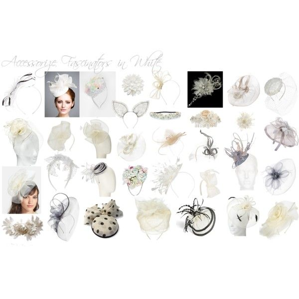 Accessorize Fascinators in White by mschongkong on Polyvore featuring Francesco Ballestrazzi, Vivien Sheriff, Philip Treacy, Maison Michel, Carrie Jenkinson, Morgan & Taylor, Monsoon, John Lewis, ASOS and Accessorize