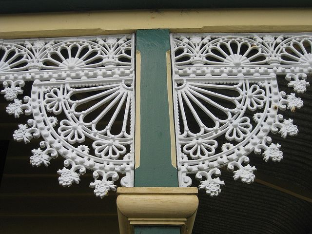 Cast Iron Lacework Detail on the Verandah of Hymettus Cottage - Ballarat | Flickr - Photo Sharing!