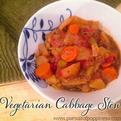 Crock Pot Vegetarian Cabbage Stew Servings: 4 Hearty Bowls Calories: 220 Weight Watchers Points+: 5 Old Points: 4
