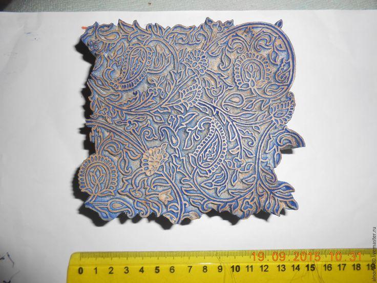 Купить Деревянный штамп для печати на ткани - хобби, ручная набойка, деревянные штампы, штампы для творчества