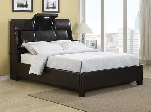 home meridian dreamsurfer queen bed with bluetoothz mattress included future party barn pinterest queen beds cup holders and mattress - Bed Frames With Mattress Included