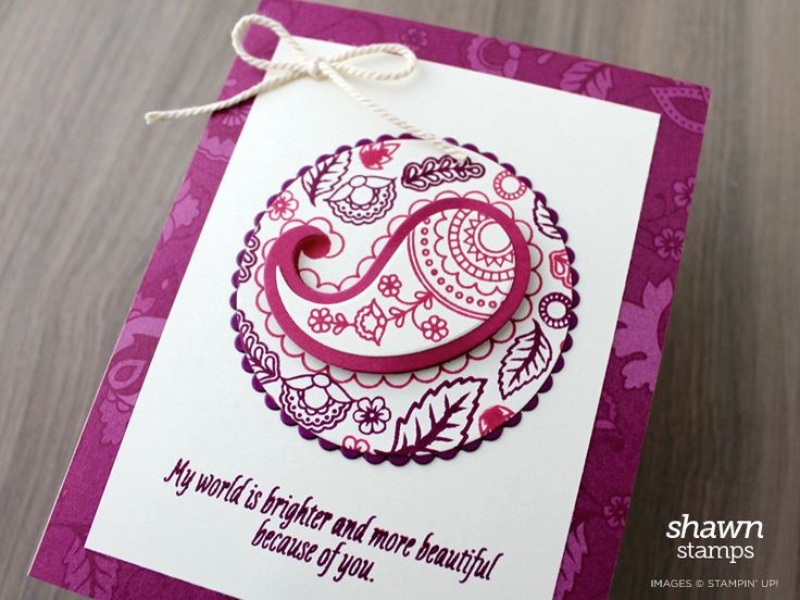 Pretty Paisley | ShawnStamps | Paisleys & Posies