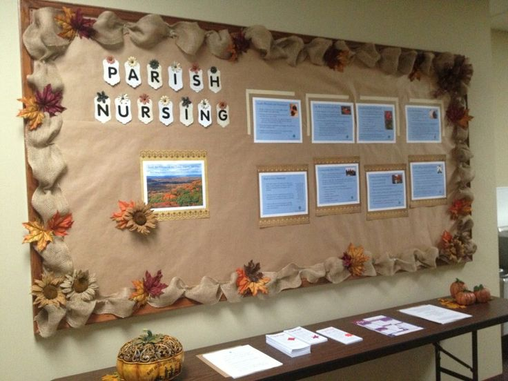 Fall bulletin board complete for parish nursing
