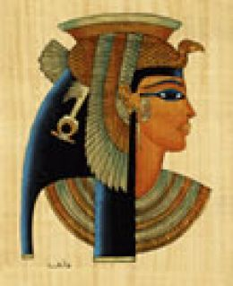 Cleopatra VII, Queen of Egypt-the last Pharaoh of Egypt and the seventh queen named Cleopatra.  Fascinating woman who was really more Greek than Egyptian.