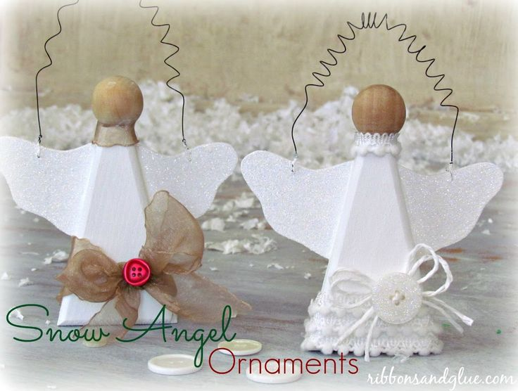 Snow Angel Ornaments - Ribbons