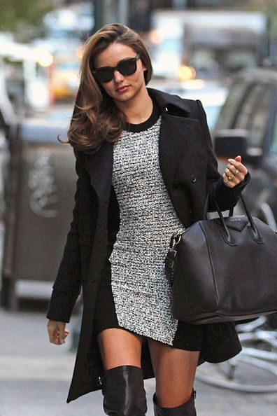 Supermodel Miranda Kerr rocks some knee high black boots, as she heads into a New York City doctor's office    57      8