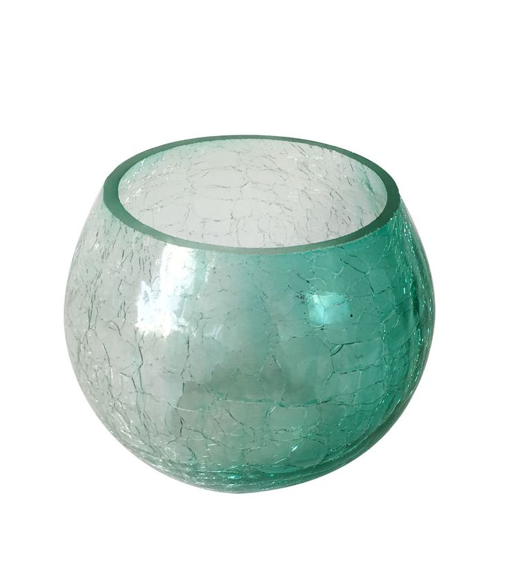 Summer Sol Small Candle Holder-Turquoise Ombre